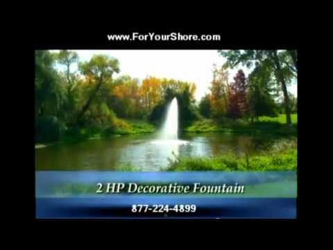 Floating Fountains for Ponds algae control