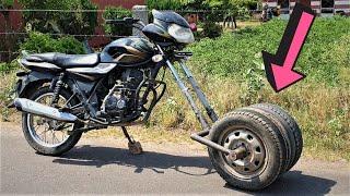 बाइक में लगाए गाड़ी के तीन बड़े टायर | बहुत मजा आया- CAR TYRE IN BIKE | Experiment By BLADE XYZ |
