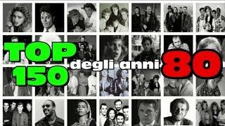 I 150 singoli più piazzati negli anni 80 (dal 09/12/79 al 21/1/90) by radiocorriere tv