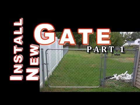 Build & Install Fit Right Chain Link Gate: PART 1