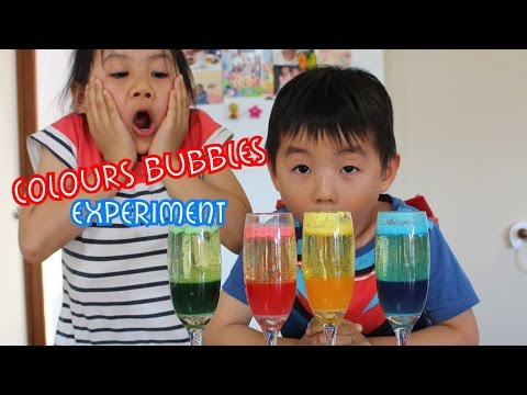 How to make a homemade lava lamp - water oils food colouring experiment