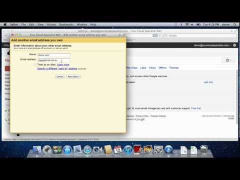 Set up Google Apps / Gmail to be able to send from another email address you own...