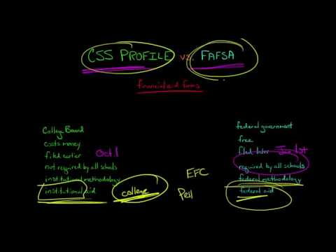CSS Financial Aid PROFILE vs. FAFSA