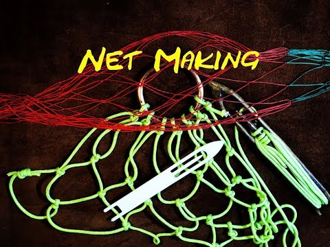 Net Making - How to Make a Purse Net Using Paracord - Easy to Follow Instructions on Net Making