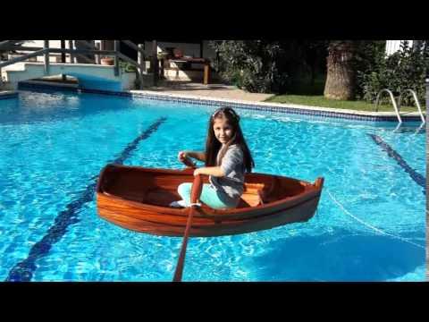 140 cm wooden boat - child boat