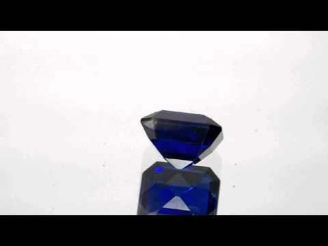 2.67-Carat Unheated Eye-Clean Ink-Blue Sapphire (GRS-Certified)
