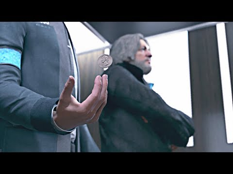 Detroit: Become Human - Hank Tries to Match Connor's Coin Tricks
