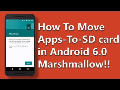 How to Move Apps to SD card in Android 6.0 [Marshmallow][No Root]!!