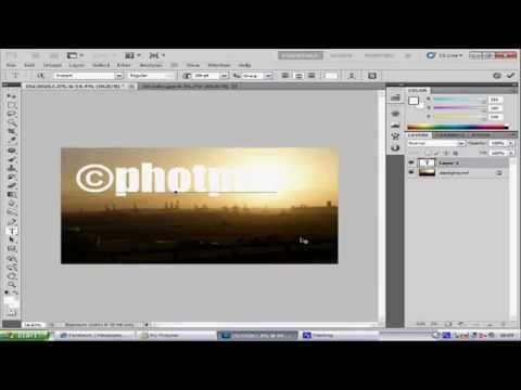 photoshop CS5 watermark tutorial