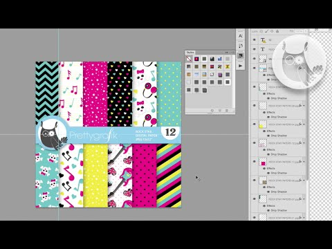 Repeat patterns - adobe illustrator - speed drawing rock star repeat patterns digital art