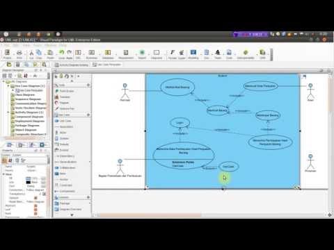Tutorial Use Case Menggunakan Visual Paradigm for UML 8.0 Enterprise Edition