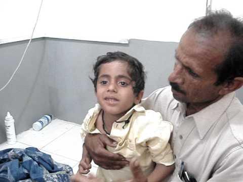 Hydrophobia in a child ...MATLI..Sindh Pakistan.MPG