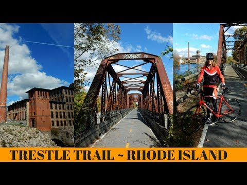 Views from the Trestle Trail Greenway Bike Path ~ Rhode Island ~ Fall Foliage