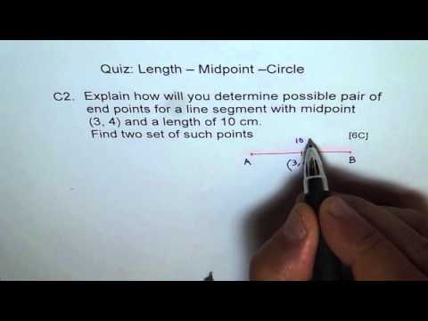 Find End Points With Given Midpoint and Length C2