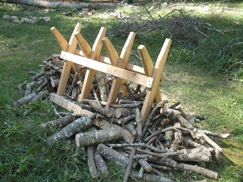Making a Firewood Sawbuck Stand