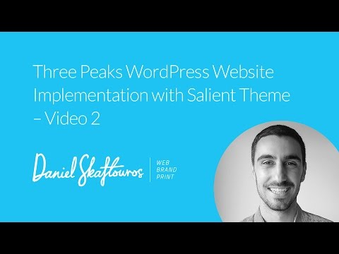 Website Implementation with Salient Theme - Video 2