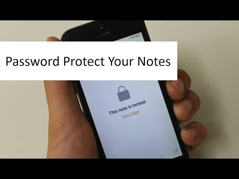 How to password protect your notes in IPhone