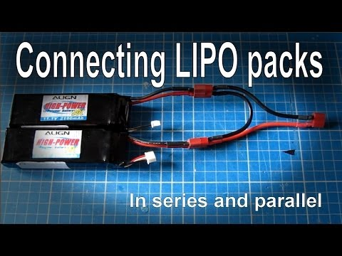 Connecting batteries in series or parallel (LIPO)