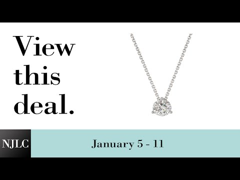 Deal of the Week: White Gold Diamond Solitaire Necklace