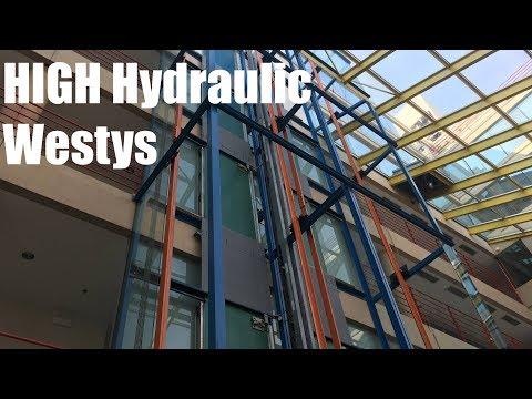 Interesting Westinghouse Scenic HIGH Hydraulic Elevators @ 1770 1st St - Highland Park, IL
