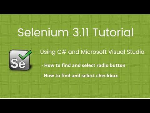 7. Selenium 2018 Tutorial using C# Visual Studio: How to find Radio Button and Checkbox