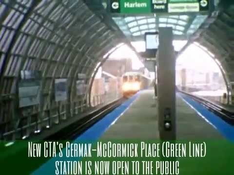 New CTA's Cermak-McCormick Place Green Line station is now open to the public (02-26-15)