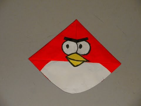 How to Make a Paper Angry Bird / Easy Tutorials