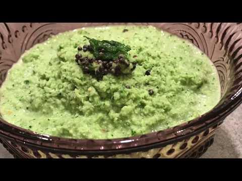 Coconut Coriander Chutney- Coconut chutney for Idli, Dosa - Green coconut chutney-kobbari Pachadi