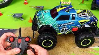 Pelleteuse, camion à ordures, Camion de pompier, voiture de police, trains jouets pour enfants