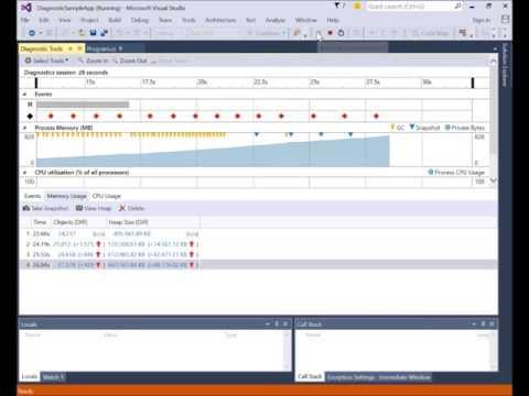 Using the Diagnostic Tools in Visual Studio 2015