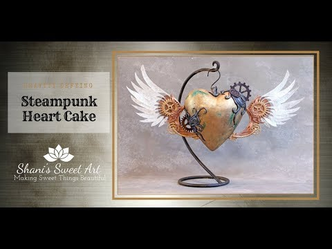 Gravity Defying Steampunk Heart Cake