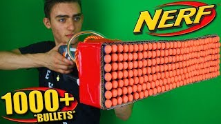 Nerf War: 1000 Bullet Nerf MOD (*It Actually Works*)