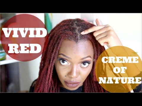 NEW HAIR COLOR | CREME OF NATURE VIVID RED