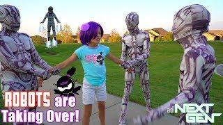 Download ROBOTS are TAKING OVER NINJA KIDZ TV!! NEXT GEN New Movie! Video