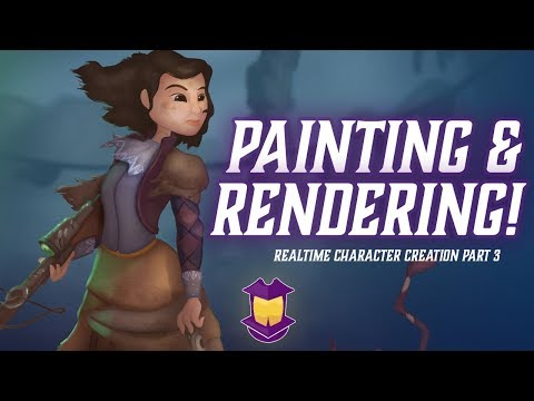 Painting & Rendering Realtime Character Design Part 3, Finale!