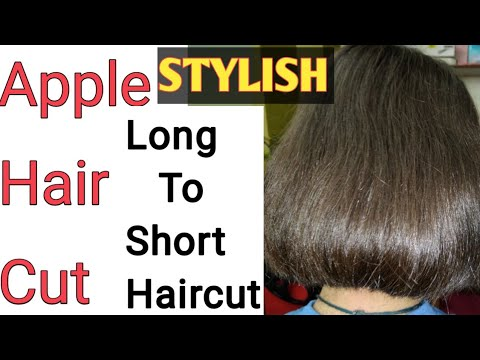 How we cut Apple haircut/Long to Short Hair cut/Baby Blunt cut/Seema jaitly