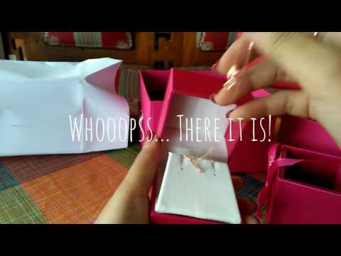 Passion jewelry, diamond necklace unboxing