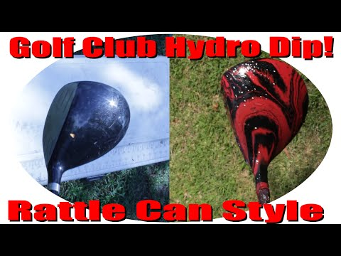 Rattle Can Hydro Dipping 3 Wood Golf Club