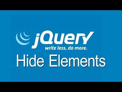 jQuery hide elements