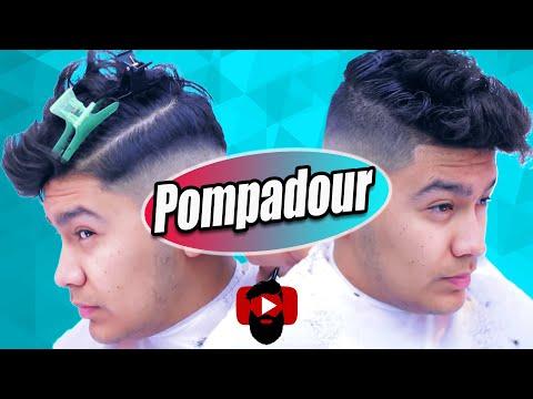 UnderCut ✂ Slicked Back Pompadour| Thinning Shears | Barber Vidz