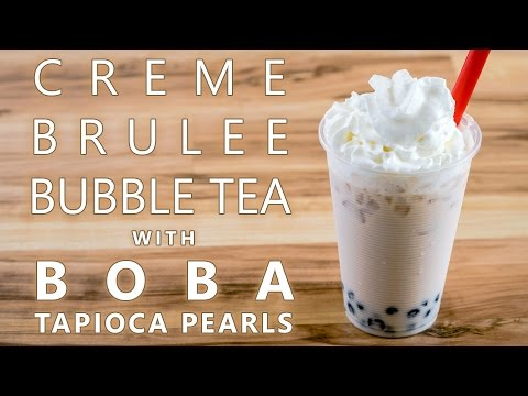 How to Make Creme Brulee Bubble Tea with Boba Tapioca Pearls