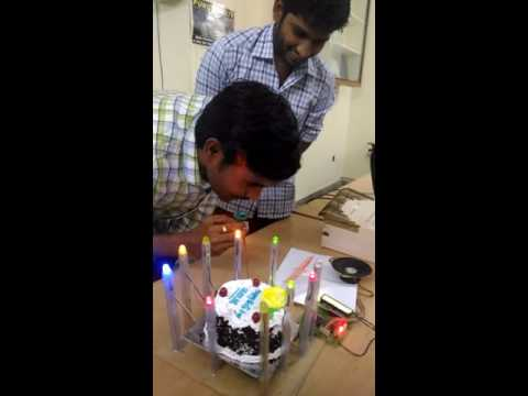 Celebrating sankar sir birthday in electronic funny way
