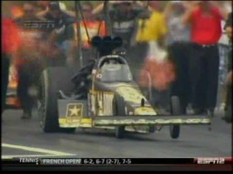 Tony Schumacher Larry Dixon Top Fuel Dragster O'Reilly Summer Nationals Topeka Kansas 2010.mpg