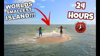 24 HOURS ON THE WORLDS smallest ISLAND!! *STRANDED* (Gone Horribly Wrong)   JoogSquad PPJT