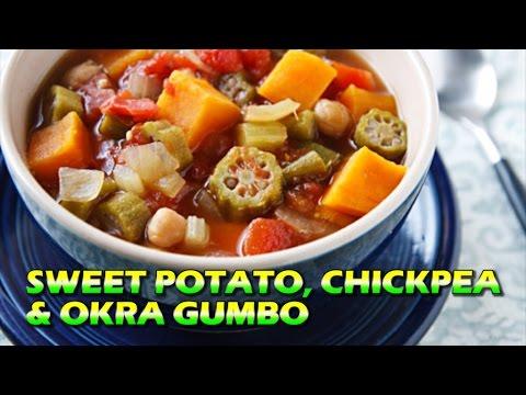 Sweet Potato, Chickpea & Okra Gumbo   High Protein Vegan