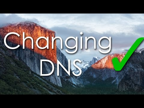 How to change DNS (Mac Os X - El Capitan)