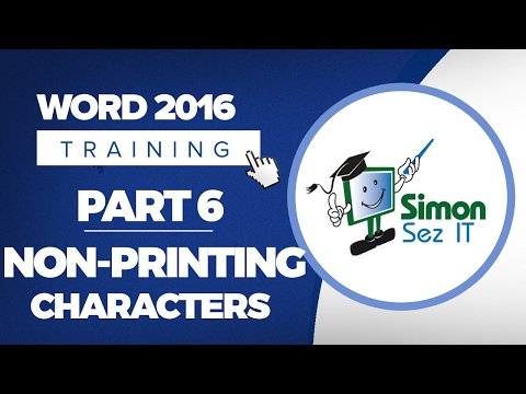 Word 2016 for Beginners Part 6: Non-Printing Characters and Line Spacing Basics in Word 2016