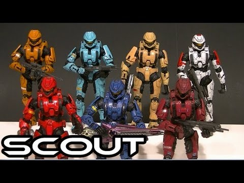 McFarlane Halo 3 SCOUT Armor Comparative Figure Review