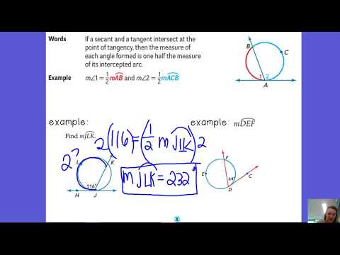 10.6 Angles formed by Secant and Tangent