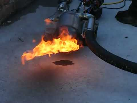 Jet Engine Combustion Chamber Test 1